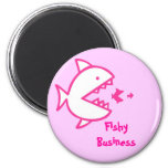 Fishy Business - Pink Fridge Magnets