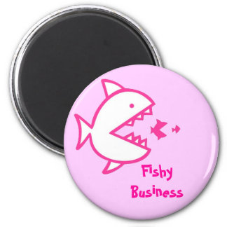 Fishy Business - Pink Fridge Magnets