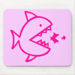 Fishy Business - Pink Mouse Pad