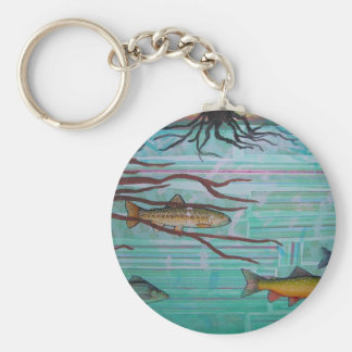 Fishy Collage Keychain