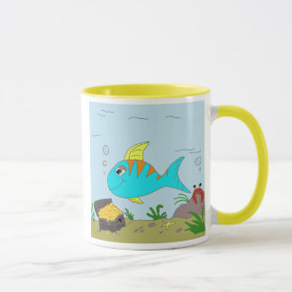 Fishy design mug