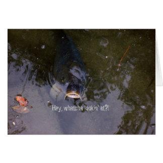 Fishy Feeling Greeting Card