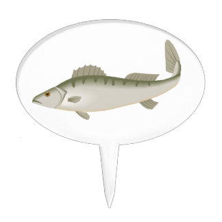 Fishy Fish Fishing Fisher Trout Cake Topper
