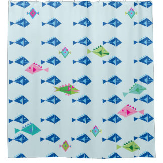 Fishy fishy fish shower curtain