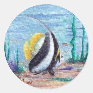 Fishy Fishy Classic Round Sticker