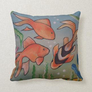 Fishy, Fishy Throw Pillow