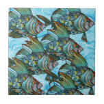 "Fishy Fishy Tile<br><div class=""desc"">Fishy, fishy in the brook, Papa catch him with a hook. Mama fry him in the pan Kimmie eat him like a man. A poem we would recite to my brother, when we were little kids, and then we would pounce on him and tickle him on the belly. This is...</div>"