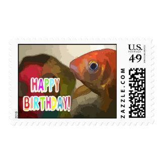 Fishy Happy Birthday Postage