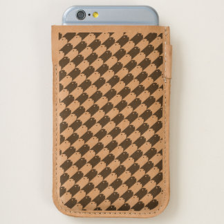 Fishy Houndstooth Phone Pouch