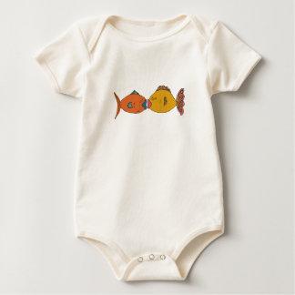 Fishy Kisses Baby Bodysuit