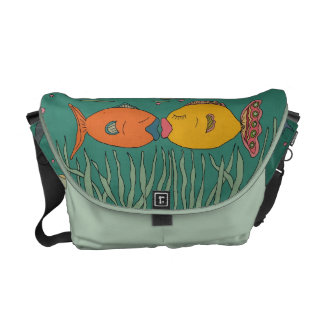 Fishy Kisses Mom Messenger Courier Bags