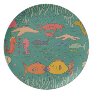 Fishy Kisses Party Plate