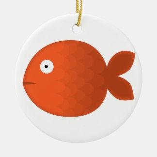 Fishy love ceramic ornament