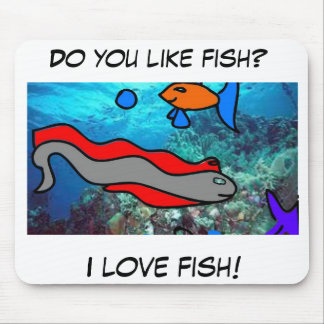 Fishy Love! Mouse Pad