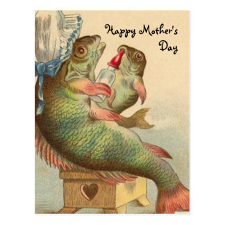 Fishy Mother's Day Post Cards