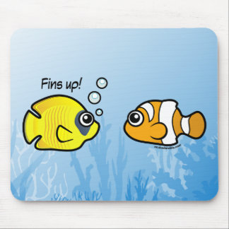 Fishy Robbery: Fins up! Mouse Pad