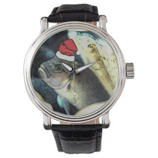 Fishy Santa Christmas Watch