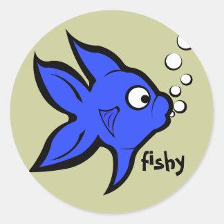 Fishy Classic Round Sticker