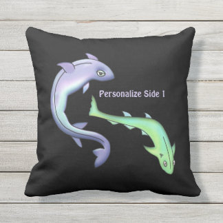 Fishy Tales Personalized Outdoor Pillow