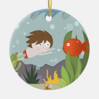 Fishy visit christmas ornaments