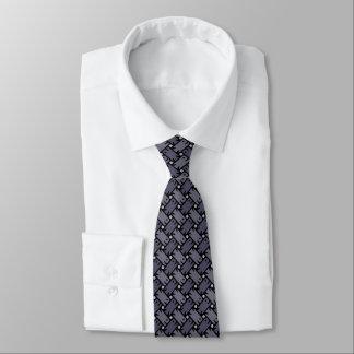 Fishy Weave Slate Neck Tie