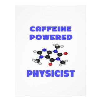 Físico accionado cafeína membrete