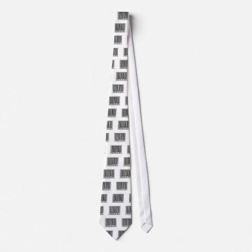 Físico del código de barras corbata personalizada