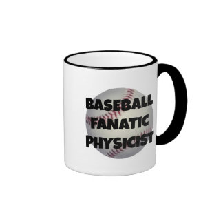 Físico del fanático del béisbol taza de café