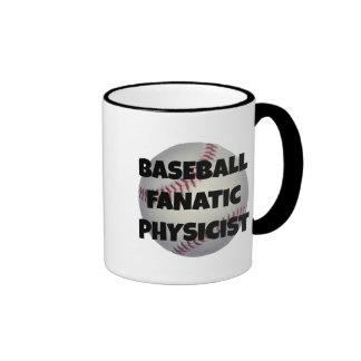 Físico del fanático del béisbol taza de dos colores
