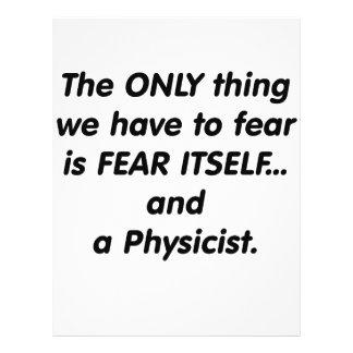 Físico del miedo flyer a todo color
