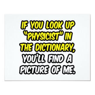 """Físico en diccionario… mi imagen invitación 4.25"""" x 5.5"""""""