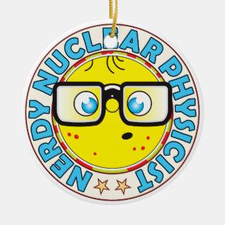 Físico nuclear Nerdy Adorno Navideño Redondo De Cerámica