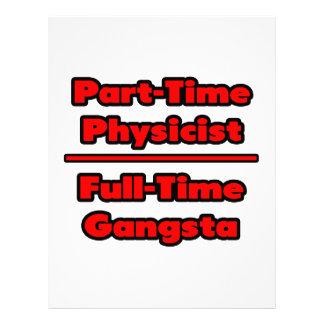 Físico por horas. Gangsta a tiempo completo Membretes Personalizados