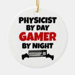 Físico por videojugador del día por noche ornaments para arbol de navidad