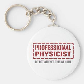 Físico profesional llavero redondo tipo pin