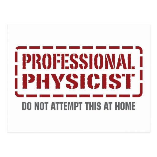 Físico profesional tarjetas postales