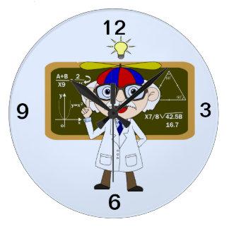Físico que descubre del ser humano reloj de pared