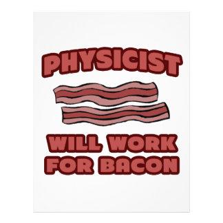Físico. Trabajará para el tocino Membrete A Diseño