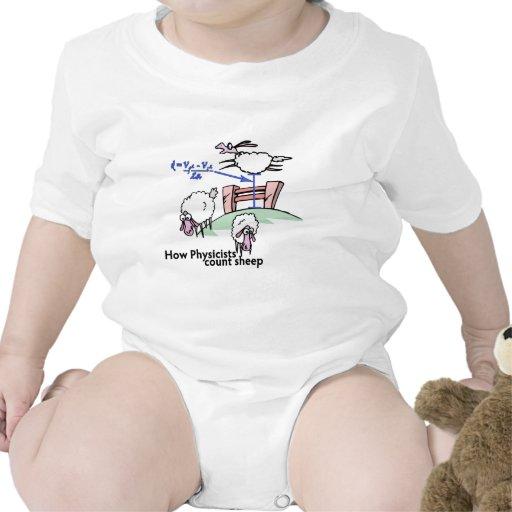 Físicos que cuentan ovejas trajes de bebé
