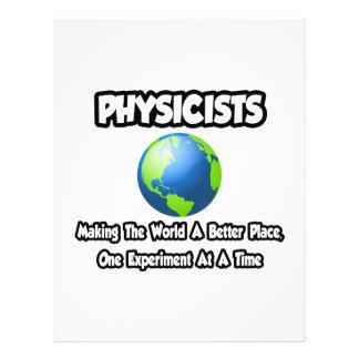 Físicos… que hacen el mundo un mejor lugar plantilla de membrete