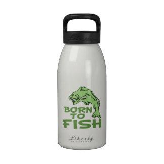 Fising bajo divertido botella de agua reutilizable