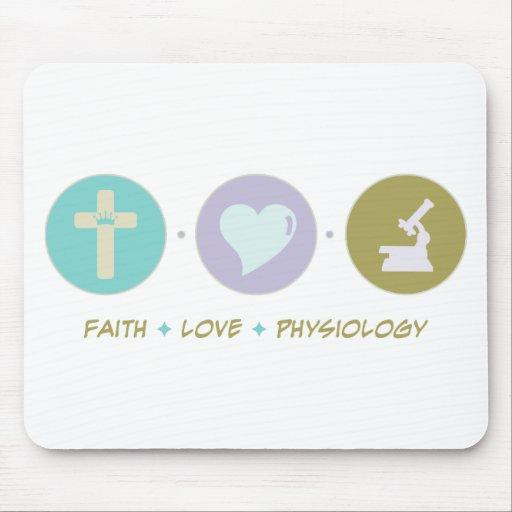 Fisiología del amor de la fe tapetes de raton
