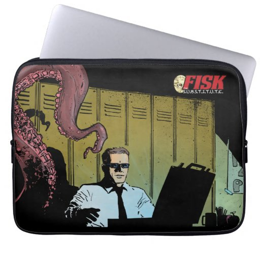 FISK the Substitute laptop sleeve