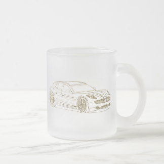 Fisker Surf 2013 Frosted Glass Coffee Mug