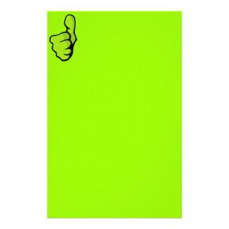 fist-160957 fist thumb finger top great green posi custom stationery