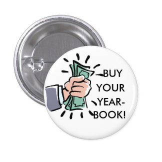 Fist%20of%20Money, BUY, YOUR, YEAR-, BOOK! Pinback Button