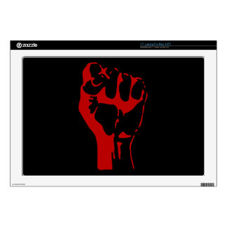 "fist-296563 BLOODS BLOOD  fist power fight aggress Decal For 17"" Laptop"