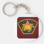 fist and red star keychains