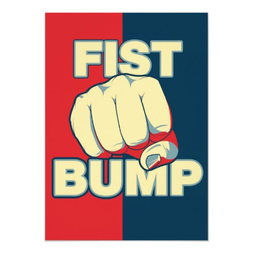 Fist Bump 5x7 Paper Invitation Card