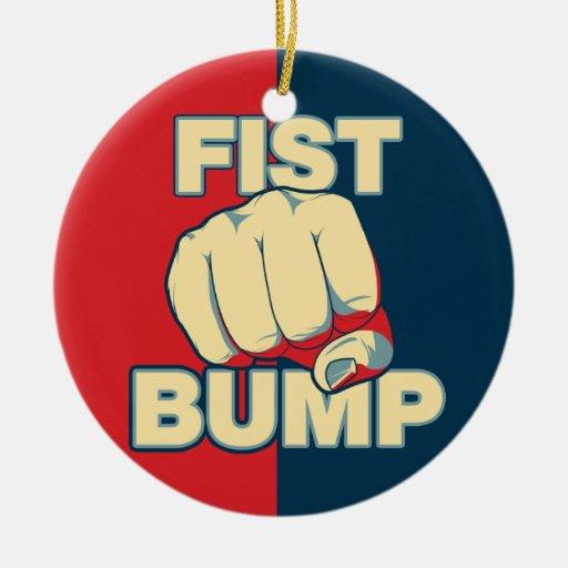Fist Bump Christmas Ornaments